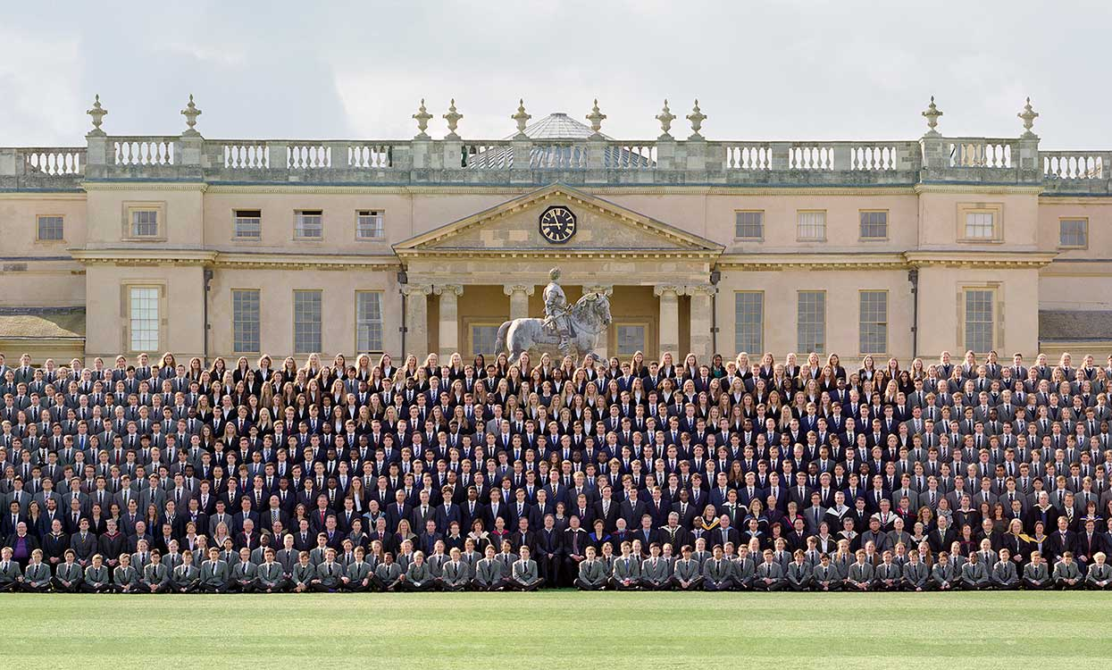 Whole school photograph with school building in background